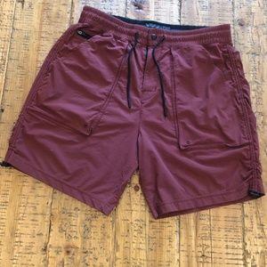 A&F Maroon Shorts